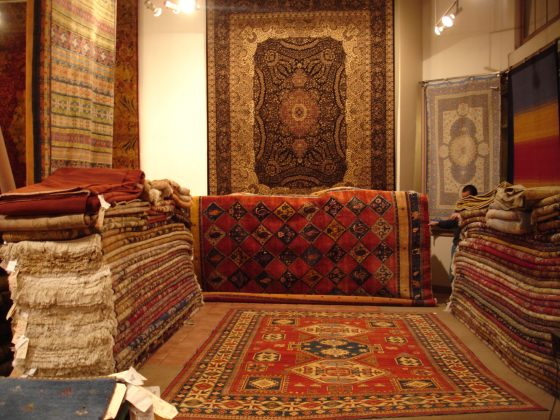 rugs-folded-showroom